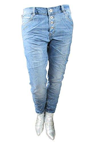 Karostar Jeans – Zip Denim Stretch Baggy-Jeans