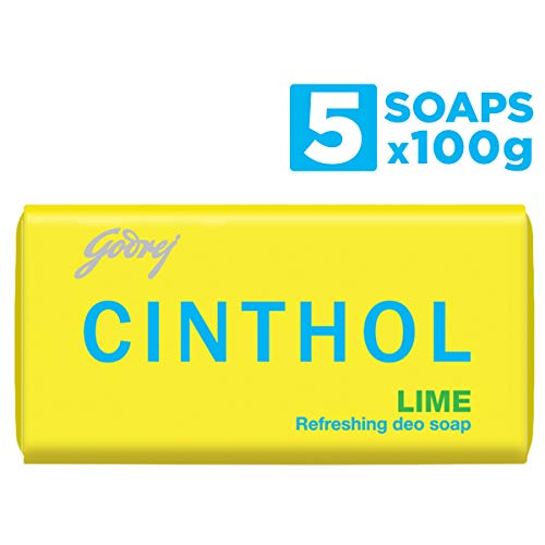 Cinthol Lime Bath Soap 100g (Pack of 4) + 100g FREE