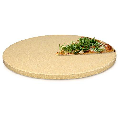 Navaris Pietra refrattaria XXL per Cottura Pizza - Tonda 35 (Ø) per cuocere in Forno Pane Pizza...