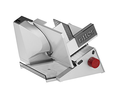 Ritter Contura-3 - Cortafiambres, grosor de corte de de 23 mm, diámetro de 17 cm, 230 V, 65 W motor ECO, color blanco