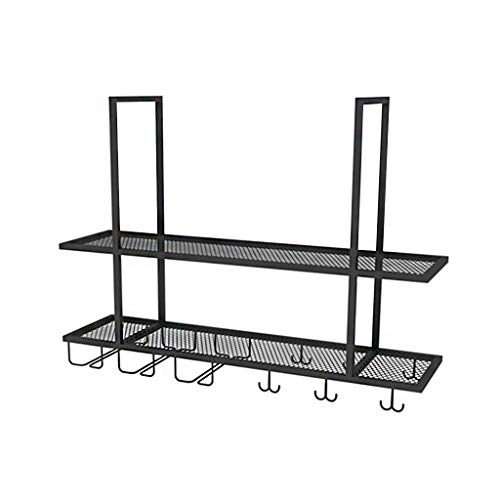 Rack da parete Wine Bar | Portabottiglie pensile e portabottiglie pensile | Mensola per soffitto...