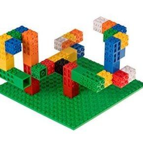 Strictly Briks - Set para Construir con 61 Piezas en Total - 60 Ladrillos Creatorz y 1 Base clásica - 100 % Compatible con Todas Las Grandes Marcas - Verde - 15,24 x 15,24 cm