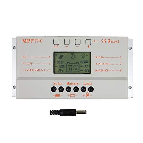 LIOOBO Generador Solar del regulador de la Carga de 30a 12v / 24v para el regulador Inteligente casero de la batería del Panel Solar