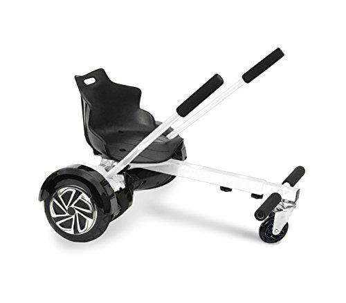 Mediawave Store Sediolino Adattabile per Hoverboard Regolabile da 6,5 a 10 Pollici Go-Kart (Bianco)