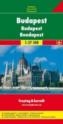 Budapest, Stadtplan 1:27.500, freytag & berndt Stadtpläne