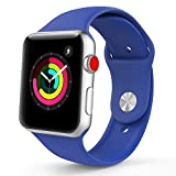 TiMOVO Cinturino per Apple Watch 42mm, Morbido Braccialetto di Ricambio in Silicone per Apple Watch 42 mm di Series 3/2/1, (NON adatto a Apple Watch 38mm), Blu Royal