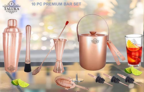 Taluka Copper Plated Wine and Cocktail Bar Set, 750ml