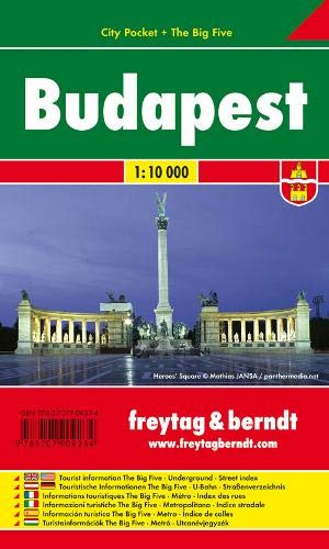 Budapest, Stadtplan 1:10.000, City Pocket + The Big Five: Stadskaart 1:10 000 (freytag & berndt Stadtpläne)