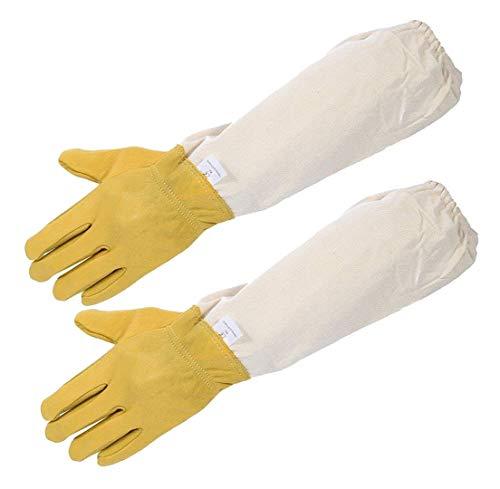 Limeo Guanti Apicoltori Beekeeper Gloves Guanti da Apicoltore in Pelle Guanti Protettivi per...