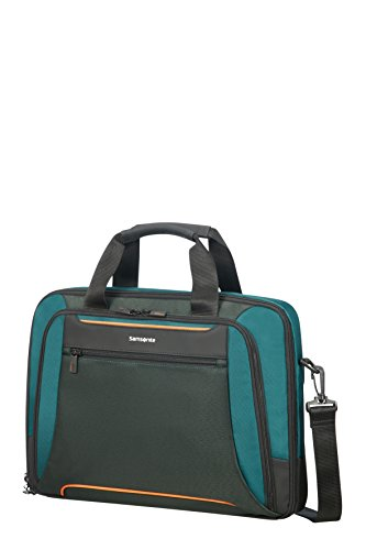 """SAMSONITE Kleur - Bailhandle for 15.6"""" Laptop 0.6 KG Borsa Messenger, 41 cm, 12.5 liters, Verde (Green/Dark Green)"""