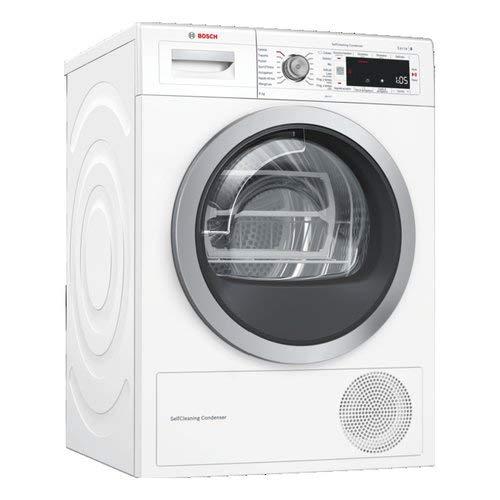 Bosch Serie 8 WTW87568II Libera installazione Carica frontale 8kg A+++ Bianco asciugatrice
