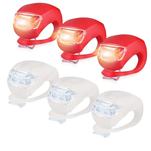 About1988 Wasserdichte 3 Modus-Einstellung Ultra Bright LED 2 x CR2032-Batterien passend für alle Fahrräder, am Rucksack befestigt, Helm, Jacke (Rot)