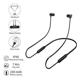 Auriculares-BluetoothHotott-Inalmbricos-Auriculares-Magnticos-Bluetooth-42-Cascos-In-Ear-de-Auriculares-Deportivos-Magnticos-Neckband-para-iOS-Android-Mviles-Smartphones-PC-Negro