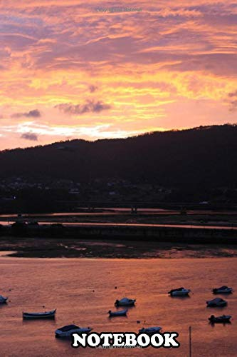 Notebook: Pontedeume Estuary Reflex Over The Water When Sunset , Journal for Writing, College Ruled Size 6' x 9', 110 Pages