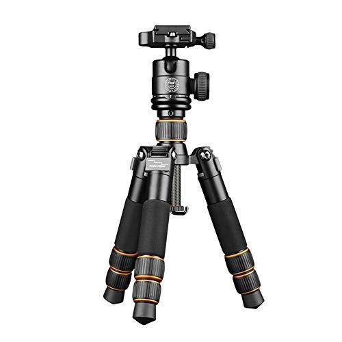 Camera Tripod Telecamera portatile treppiede in fibra di carbonio Treppiede testa a sfera e pezzi di 1/4' Piastra Quick Release for for la corsa for DSLR Canon Nikon Sony fotocamera oro nero (Q610C) C