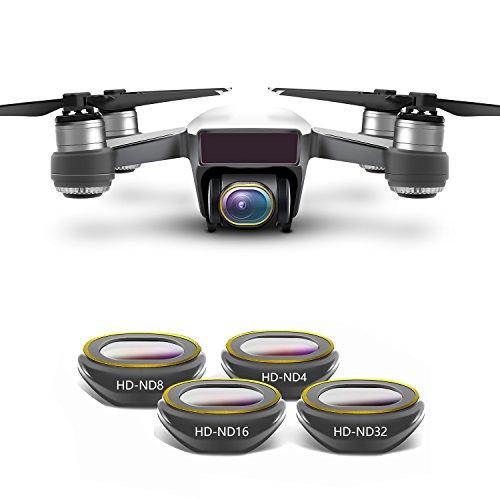 Rantow Kit filtro obiettivo HD multi-rivestito per fotocamera Gimbal per DJI Spark Drone, Disegno...