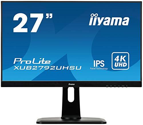 "iiyama ProLite XUB2792UHSU-B1 68,4cm (27\"") IPS LED-Monitor 4K UHD (DVI, HDMI, DisplayPort, 2xUSB3.0, Ultra-Slim-Line, Höhenverstellung, Pivot) schwarz"