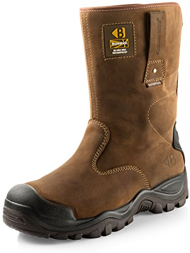 The Buckler BSH010BR Waterproof Safety Rigger Work Boots are stylish and comfortable to walk in. They are not heavy boots and thus can be worn while working on the farm or a construction site. The boots are well constructed and affordable. They can hold their own on different surfaces without slipping. For those looking for simple well-made rigger boots, these would be a great fit. We appreciate the anti-scuffing toe caps since many safety boots are vulnerable in this area. They are waterproof and have certified soles to provide optimal performance. They will be a great addition to your work wardrobe. Try them and see for yourself.