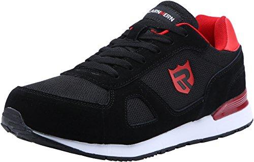 Zapatos de Seguridad para Hombre con Puntera de Acero Zapatillas de Seguridad Trabajo, Calzado de Industrial y Deportiva LM-123k Negro Reflexivo 40 EU