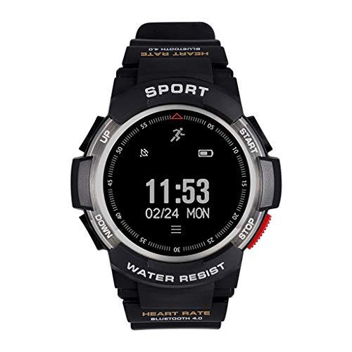 Reloj inteligente Bluetooth Digital al aire libre Deporte electrónico Pulsera multifunción Contador de pasos Calorías del podómetro con monitor de sueño de frecuencia cardíaca Impermeable para hombr