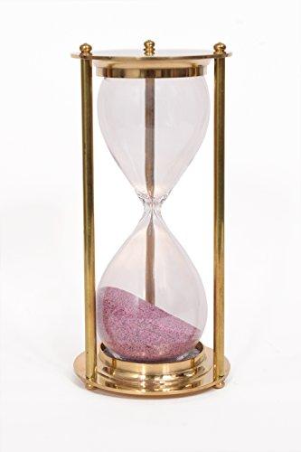 Exotic Art Brass Sand Timer Hourglass Vintage Style Desk Decor Home Decor 5 Minutes Timer