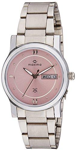 Maxima Analog Pink Dial Women's Watch - 38303CMLI