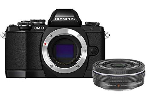 "Olympus OM-D E-M10 - Cámara EVIL de 16.1 Mp (pantalla táctil abatible 3"", estabilizador óptico, vídeo Full HD, WiFi), color negro - Kit cuerpo cámara con objetivo 14-42 mm EZ"