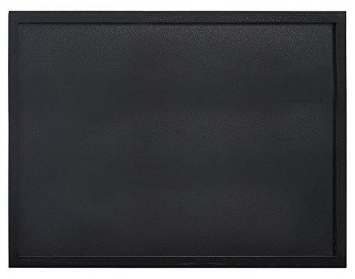 Securit Lavagna da parete, scrittura con gesso, con cornice in legno, 60 x 80 cm, colore: nero
