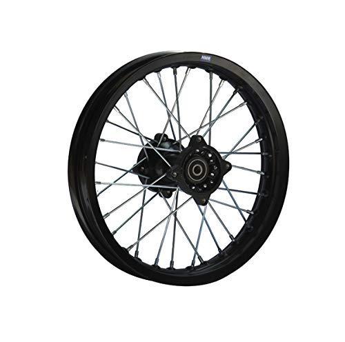 Hmparts Cerchio Alluminio Anodizzato 14 Pollici Posteriore Nero 15 mm Typ2 Pit Bike Dirt Bike Cross