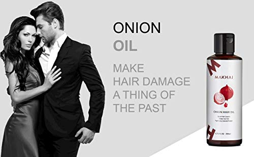 Makhai Onion Hair Oil and Onion Shampoo Combo with Red Onion Extract for Dandruff and Hair Growth 4