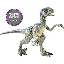 Jurassic World- Velociraptor Blue, Dinosaurio de Juguete, (Mattel FNB33)