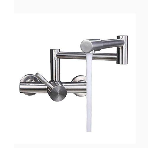 SJQKA-304 acciaio inossidabile doppio foro rubinetto, muro di tipo cucina il caldo e il freddo, il...