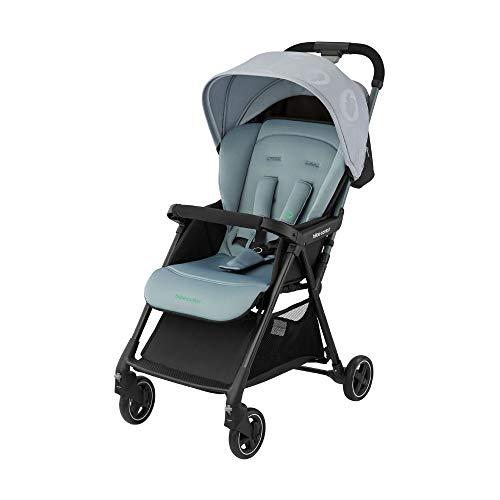 Bébé Confort Diza Passeggino leggero reclinabile, pesa 4.2 kg, richiudibile con una sola mano, pieghevole, colore Grigio