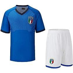 CTS Maglia da Calcio Italiana per Coppa del Mondo, Maglia Nazionale Italiana per Adulti, Maglia da Calcio, Maglia da Concorso per Adulti