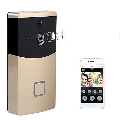 Videocitofono Wireless, 720P Wifi IP Smart Video Citofono campanello Telecamera visibile Wireless...