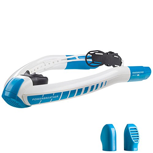 POWERBREATHER AMEO LAP - l'innovazione del boccaglio da nuoto - 100% aria fresca, nessuna respirazione a pendolo grazie alla tecnologia brevettata delle valvole