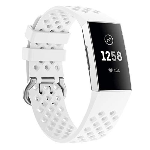 Yayuu Fitbit Charge 3 Cinturino,Ricambio Sportivo Cinturino Morbido Silicone Cinturino da Polso Fascia per Fitbit Charge 3/Charge 3 SE Smart Watch