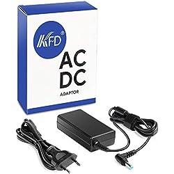 KFD 65W Adaptador Cargador portátil para Acer Aspire E1 R3 M3 M5 S3 V3 V5 V7 5720 5740 5741 5742 5250 5349 5620Z 5732 5733 E5-575G Travelmate p259-mg-549q Liteon PA-1650-22 Packard Bell EasyNote TX/ TS/ TK/ TE/ NX/ NS / LS / LE / LK/ LV / NE Butterfly S2 Gateway HIPRO HP-A0652R3B SADP-65KB Delta PA-1650-02 - 19V 3.42A