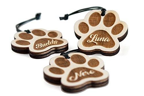 Gravina 'portachiavi Zampa con nome dopo wunsch| Ciondolo in legno con incisione prodotto di qualità