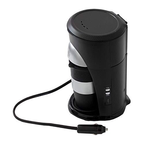 Multistore2002 Machine à café à dosettes, avec gobelet, 24V/ 300W, prise allume-cigare, machine à café de voyage, pour camion, bateau ou camping