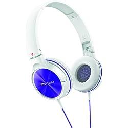 Pioneer SE-MJ522 - Auriculares de diadema cerrados, blanco y azul