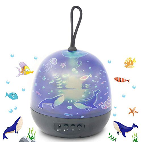 Lampada Proiettore Stelle,Luci Luna notturne per bambini con 360 Rotating Night, 8 Combinazioni...