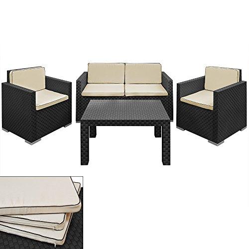 Lounge Set in Rattan-Optik Sitzgruppe Sitzgarnitur Gartengarnitur Gartenset