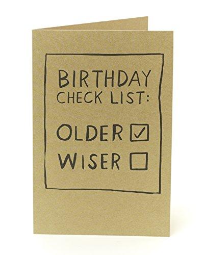 Funny Lustige Geburtstagskarte-Geburtstag Checkliste