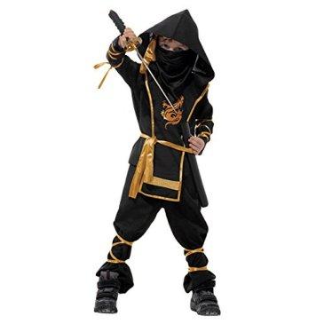 LAEMILIA Costume Enfant Soldat Ninjas Assassin Déguisements Halloween Toussaint Party Soirée