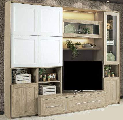 Dafnedesign.com – Parete componibile per soggiorno – Colore: olmo e ...