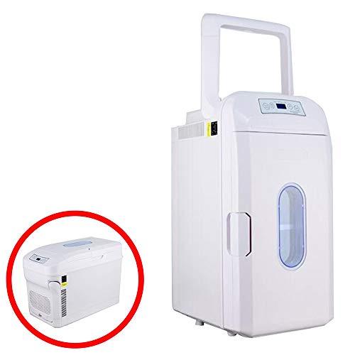 Mini Frigo Elettrico Portatile 35 Litri,Frigorifero da Viaggio Portatile Dual-Core con Ruote,...