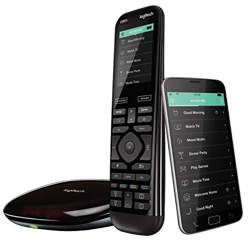 41jtr1vD4uL [Bon Plan Philips Hue] Logitech Télécommande Harmony Elite Harmony Hub et Application Design Elégant Télécommande Universelle Actions Rapides Configuration Facile Noir