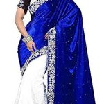 Navabi Export Women's Velvet Saree with Blouse Piece, Free Size