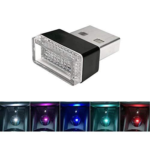 omufipw Mini wireless Car USB illuminazione auto luci interni atmosfera USB luce LED universale